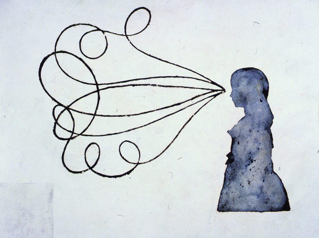 3 Caminos (Menina e três trajetórias de bumerangue/f.branco)