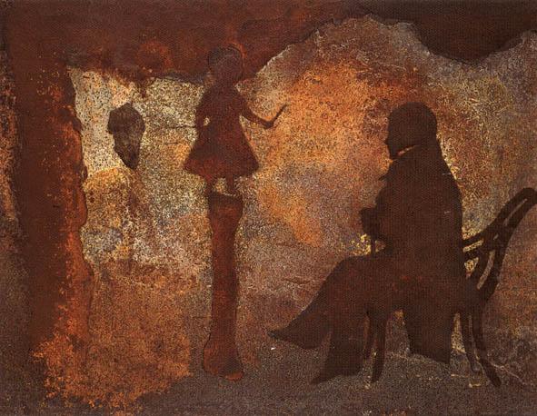 Museu (Observador e menina no pedestal de osso)