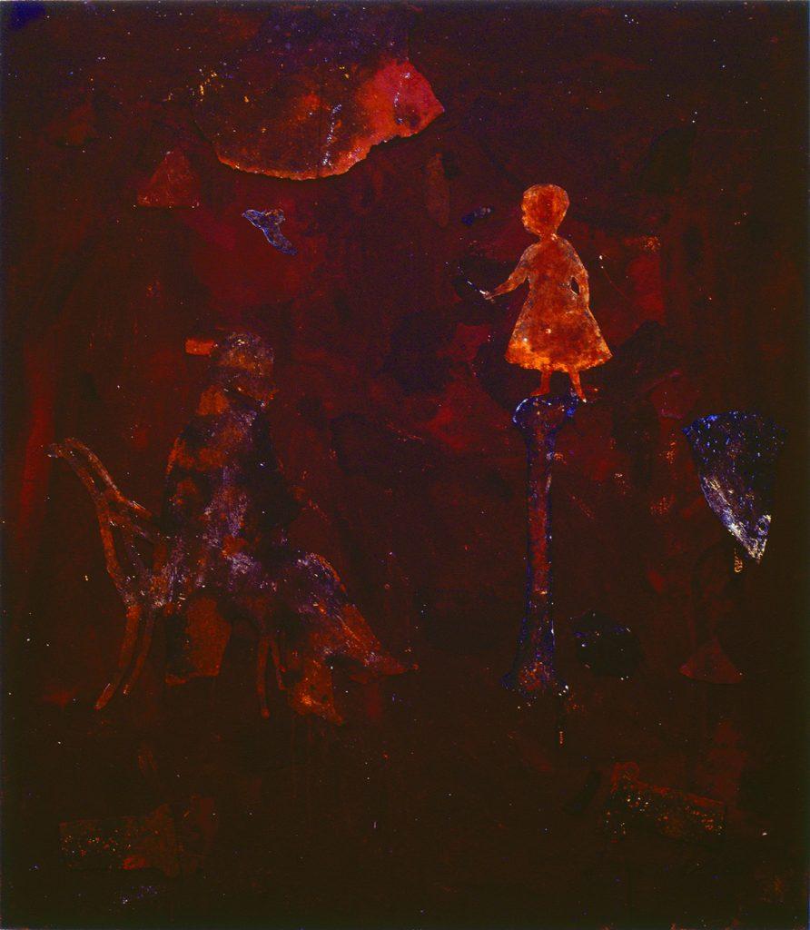 J. Haydn (Homem sentado olhando menina sobre osso)
