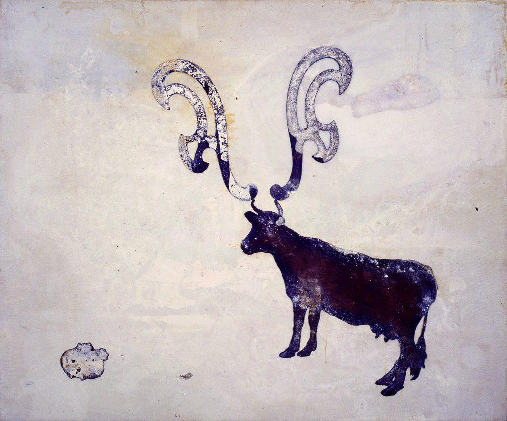 Sem título (Vaca com chifres e cabeça curva francesa)