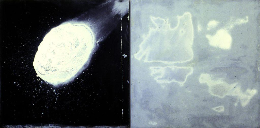 Cometa (Díptico com cometa e nuvens)