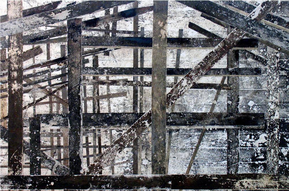 Obra (Construção, tábuas escuras fundo ativo)