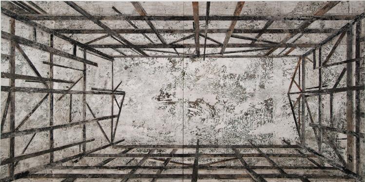 Casa (Díptico - estrutura de casa visto por debaixo)