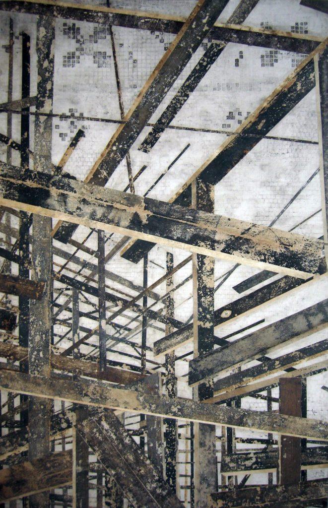 Sem título (Estrutura de madeira vertical fundo banheiro)