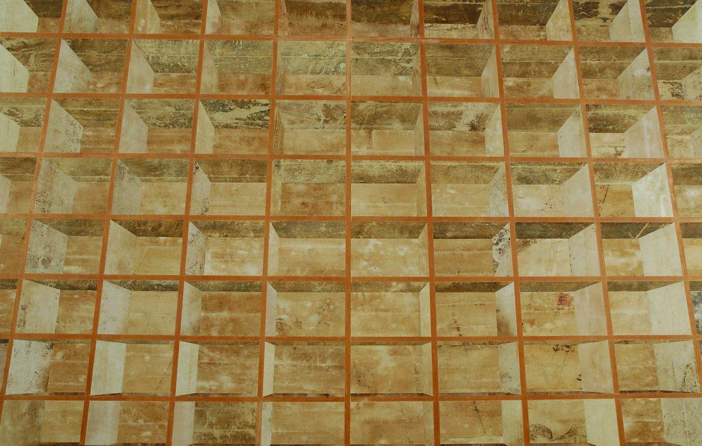 Numero deux (Estante com madeira escura do painel aparente)