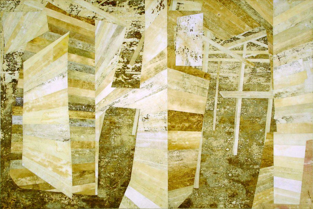 Reino III (Espaços fundidos,paredes, estacas, paus, janela)