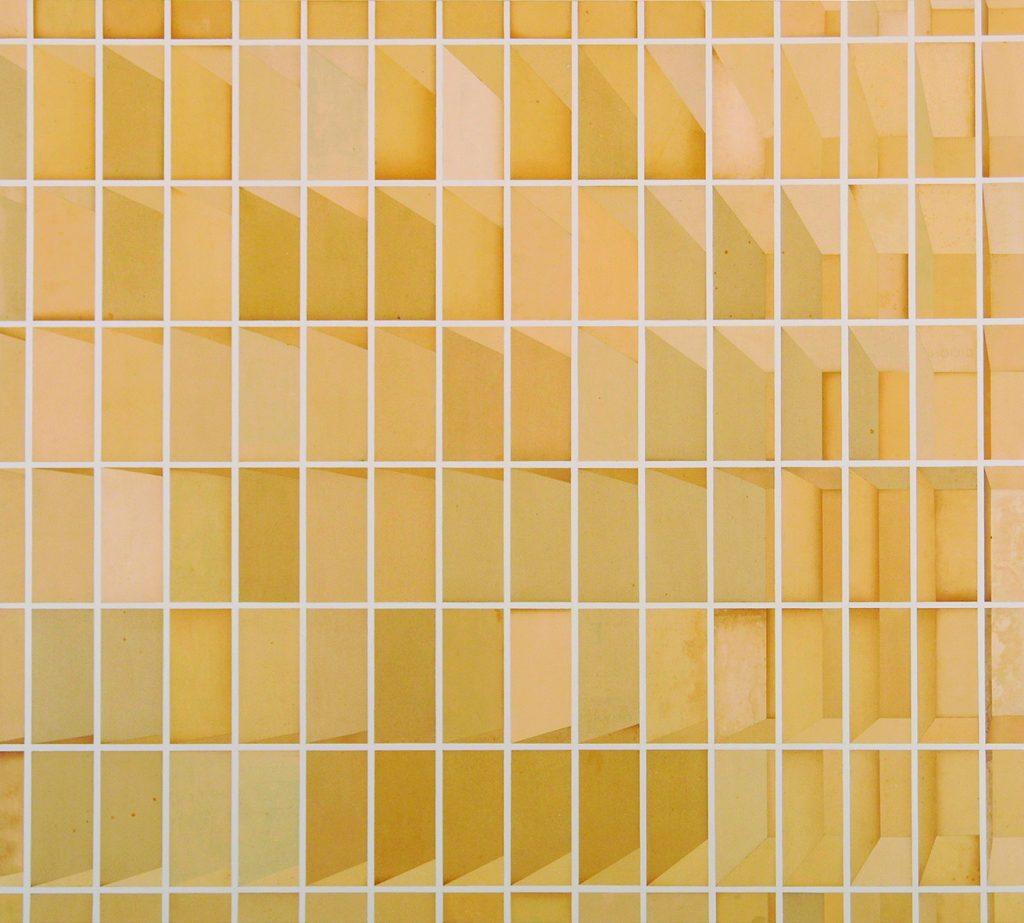 Zero (Escaninho de papel quadrado, amarelo)