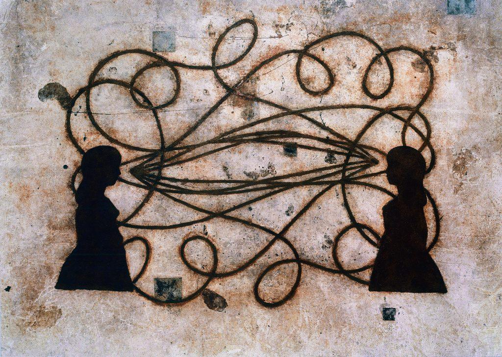 3 Caminos (Duas meninas c/ trajetórias do bumerangue)