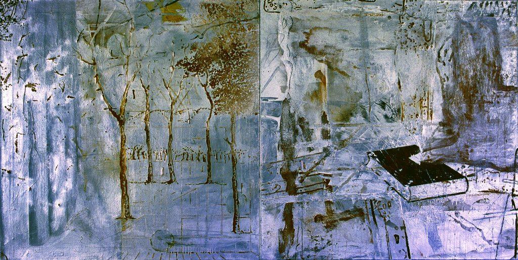 Prologue (Díptico com coelho, livro e floresta)