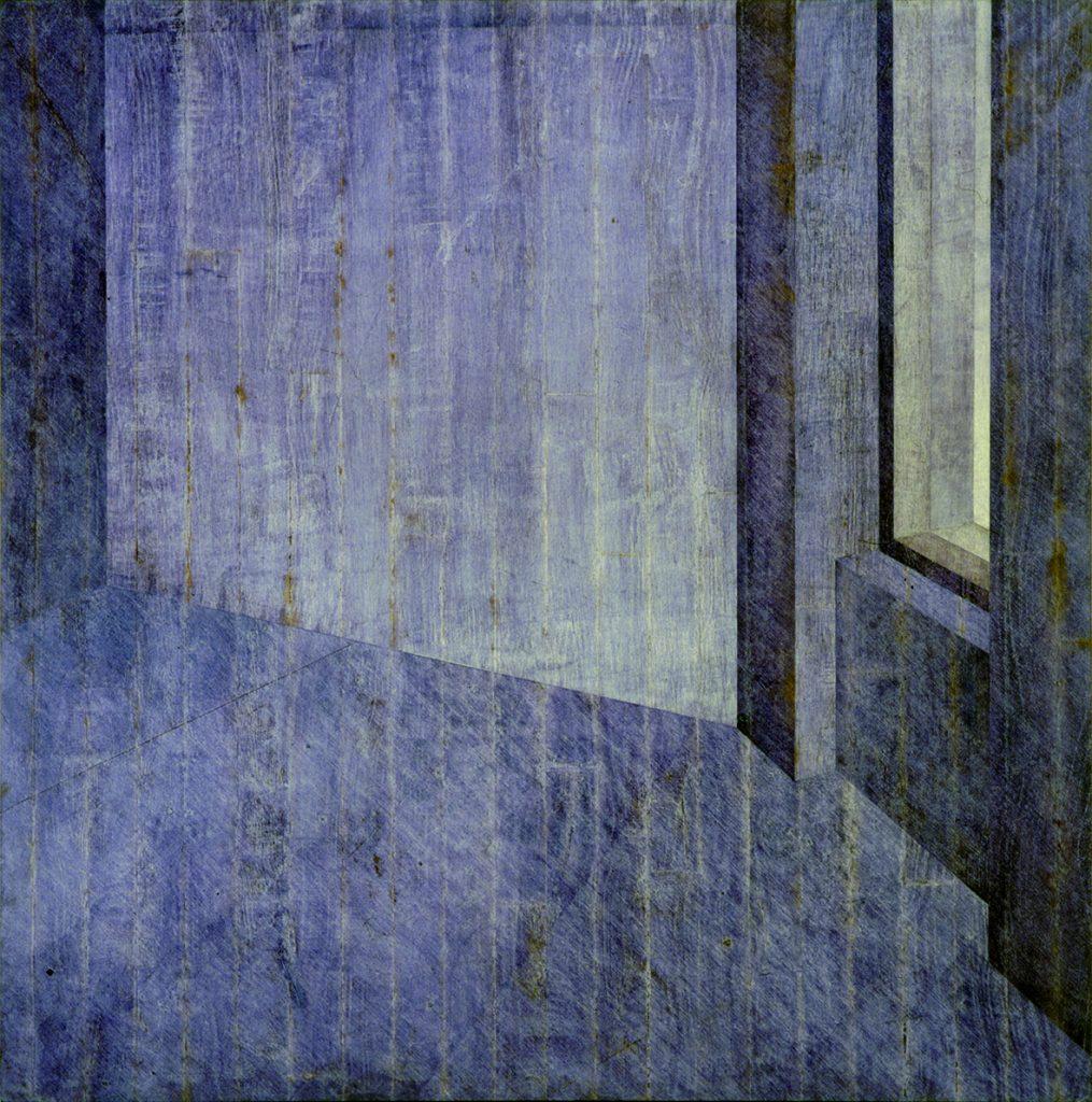 "Hopper II (""office at night"" azul pequeno, chão The Piano Factory)"