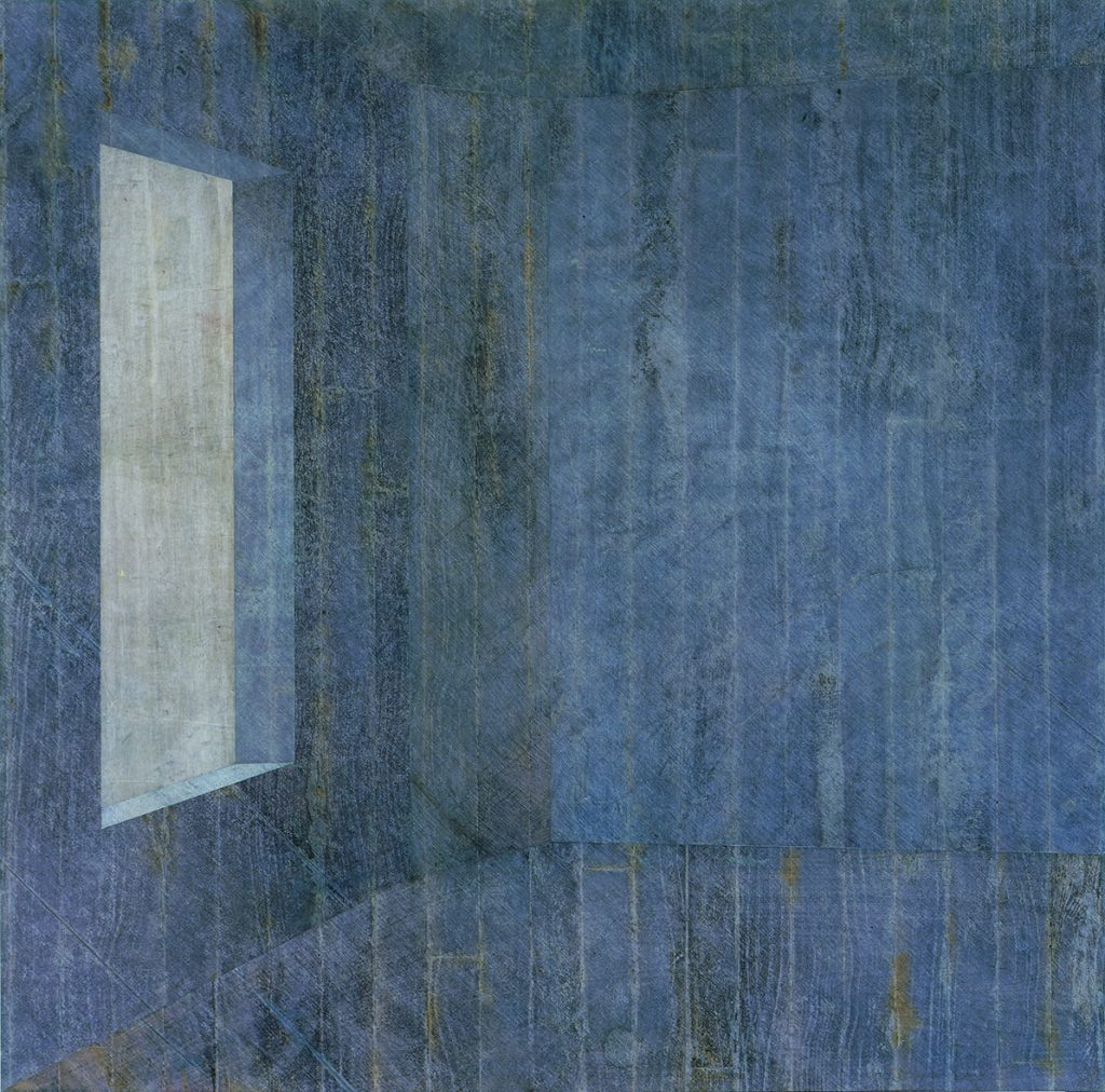 Lull 2 (Espaço azul com janela a esquerda, trama na diagonal)