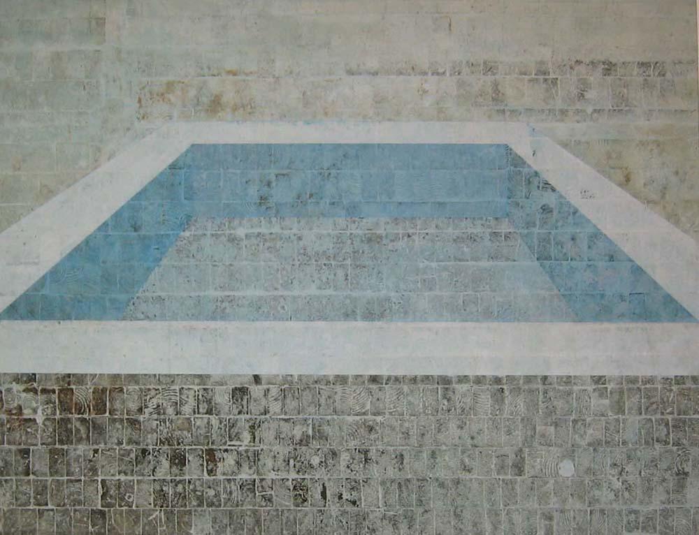Pool I (Piscina azul do ateliê do Rio, centrada)