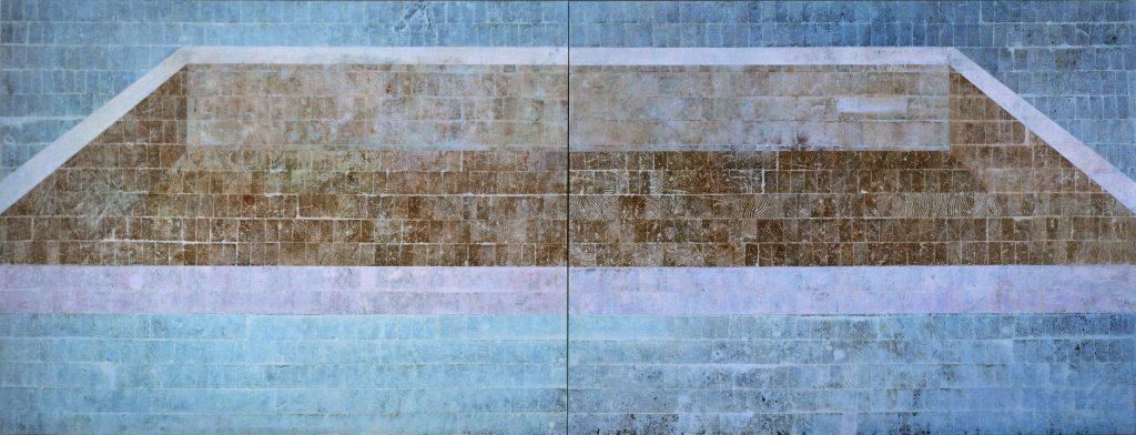 Piscina (Díptico azul com piscina de frente)