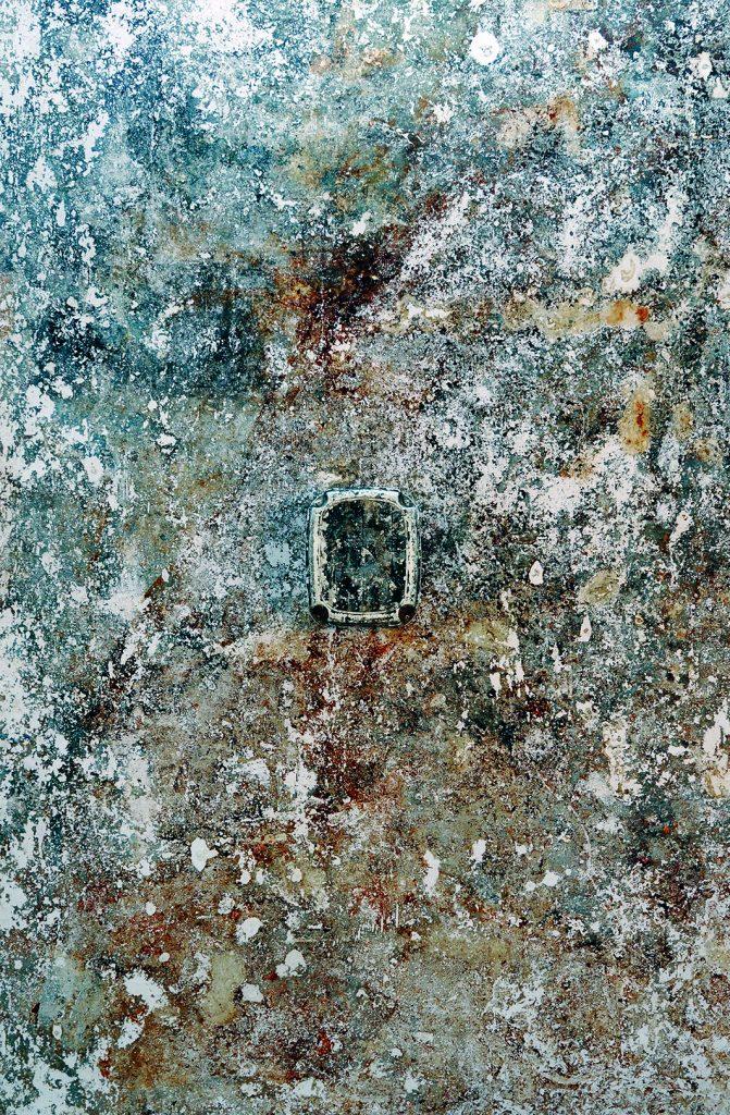 Legenda (Impressão do chão do ateliê com banco de plástico colado)